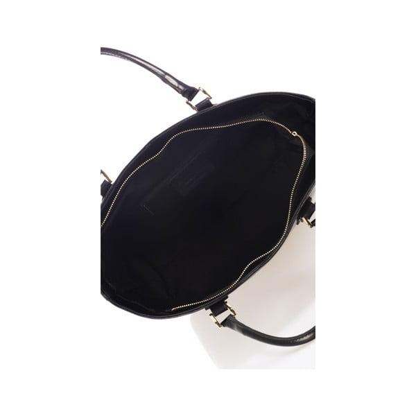 Čierna kožená kabelka Italiai 351