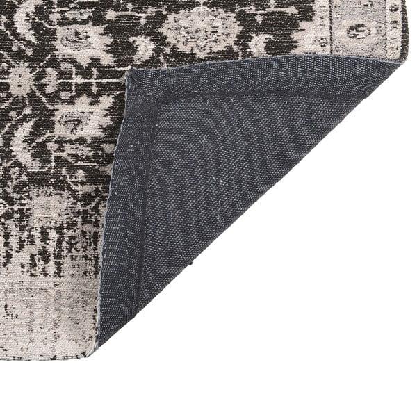 Koberec Chenille, 70x110 cm, čiernosivý