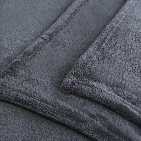 Tmavosivá deka z mikrovlákna DecoKing Mic, 200×220cm