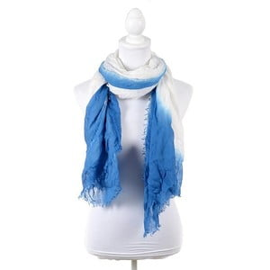 Šatka/pareo BLE Inart 100x180 cm, biela/modrá