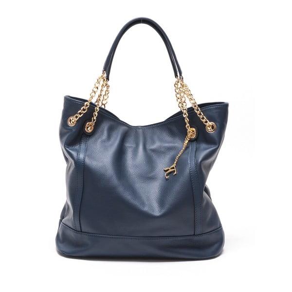 Kožená kabelka Tote 2089 Blu