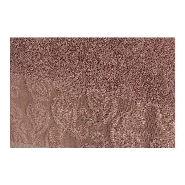 Sada 2 sivo-ružových osušiek Balon, 90×150cm