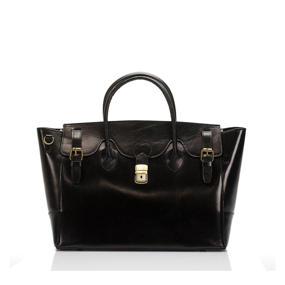 cddca4bb3d Čierna kožená kabelka Lisa Minardi Pomona