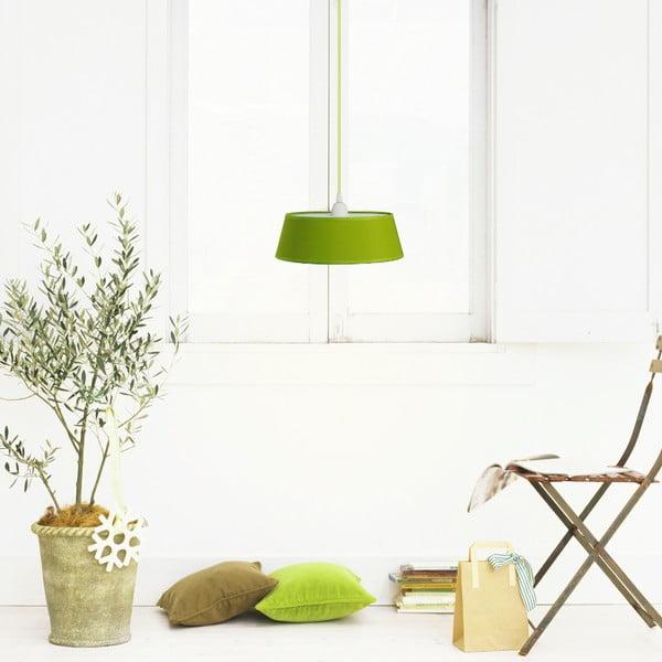 Závesné svetlo Tako, zelená/zelený kábel
