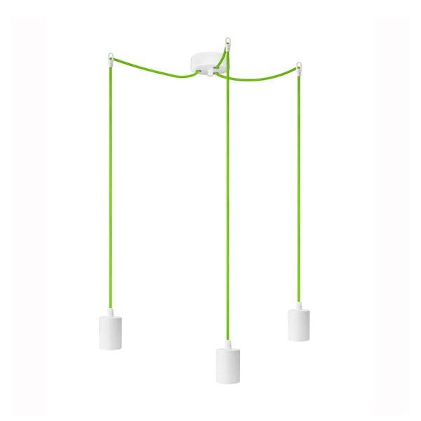 Tri závesné káble Cero, zelená/biela
