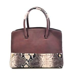 Kožená kabelka Chiara, hnedá