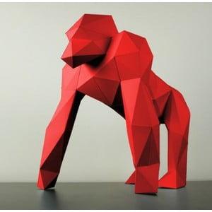 Papierová socha Gorila, červená