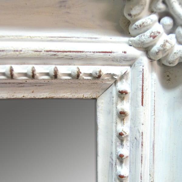 Zrkadlo v drevenom ráme Antique White, 85x115 cm