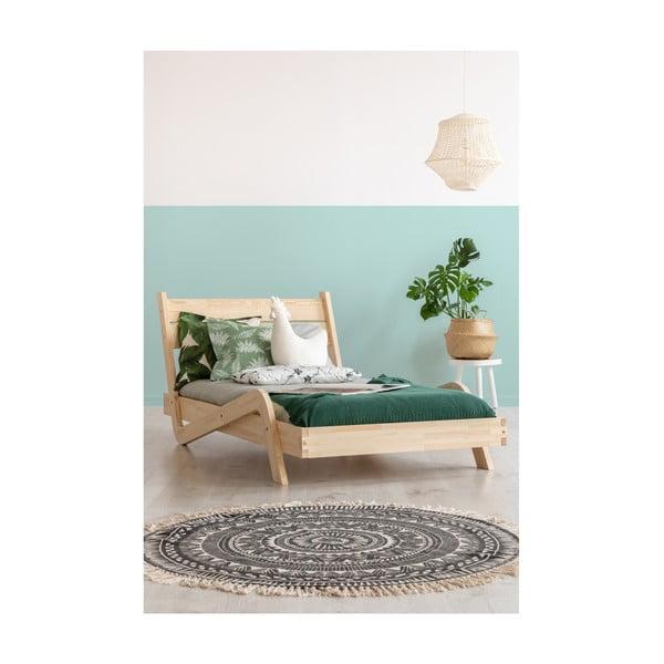 Detská posteľ z borovicového dreva Adeko Zigzag, 90×150 cm