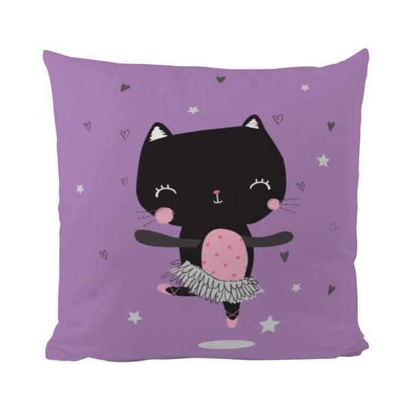 Vankúš Dancing Cat, 50x50 cm