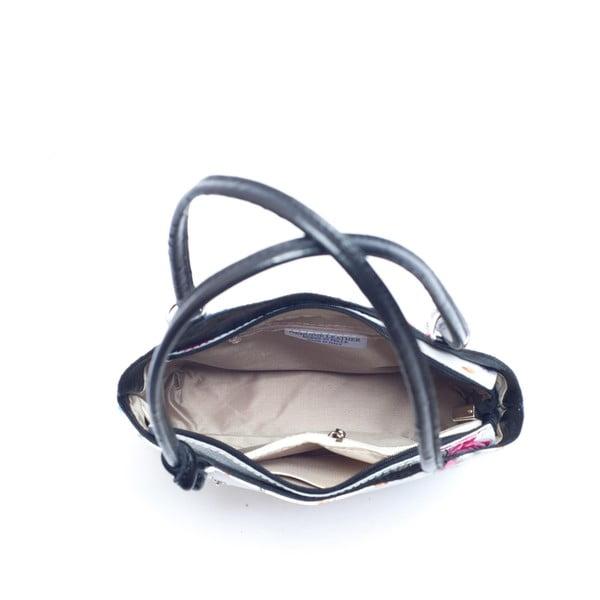 Kožená kabelka Mangotti 902, čierna