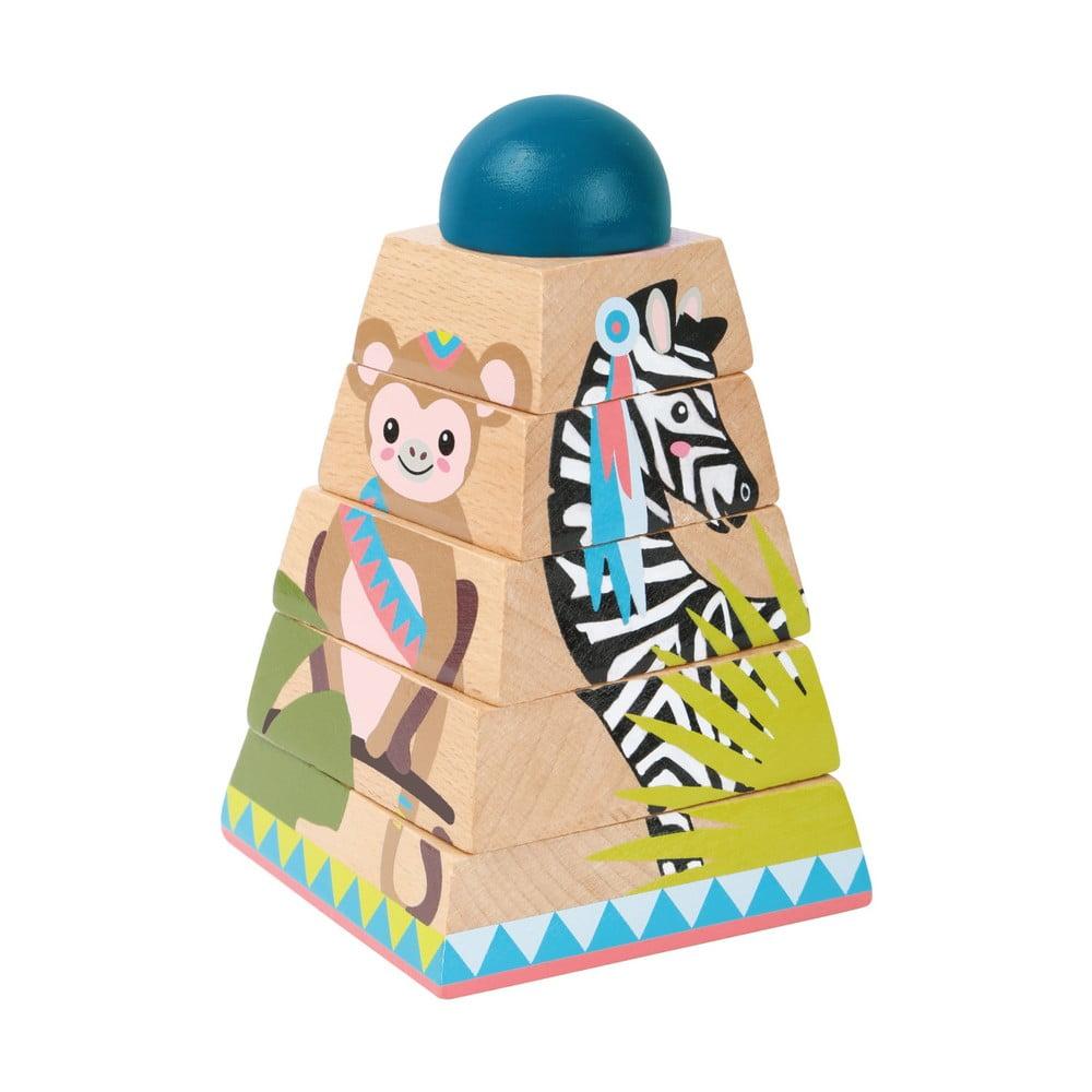 Detské drevené 3D puzzle Legler Jungle