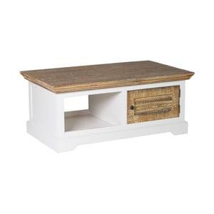 Biely TV stolík z borovicového dreva Woodking Jakarta