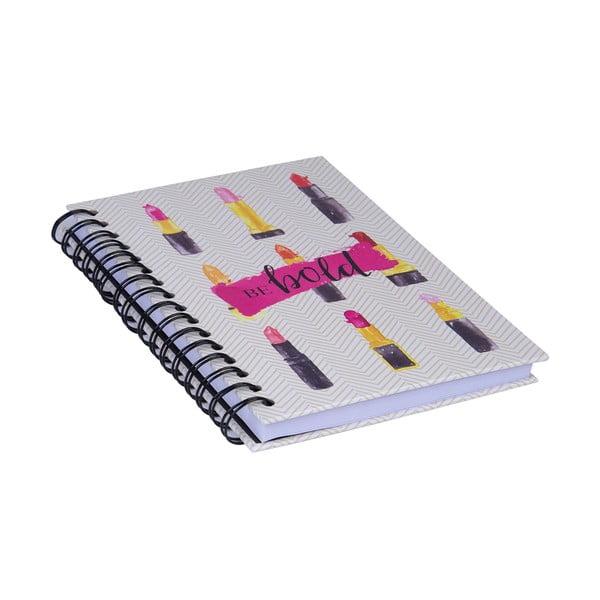 Špirálový zápisník Tri-Coastal Design Be Bold Lipstick