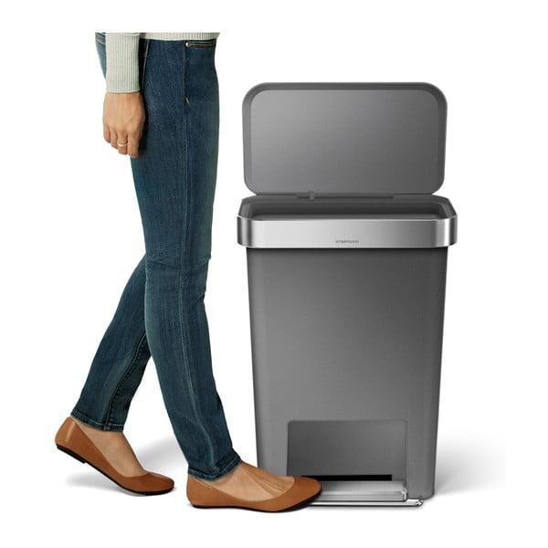 Pedálový kôš na odpadky Pocket 45 l, sivý
