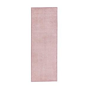 Ružový behúň Hanse Home Pure, 80×300cm