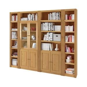 Prírodná knižnica z borovicového dreva Støraa Bayley