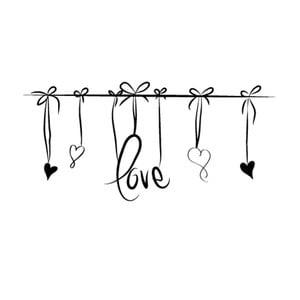 Samolepka Ambiance Love Headboard