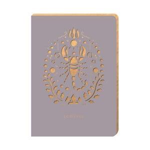 Linajkový zápisník Portico Designs Škorpión, 124 stránok