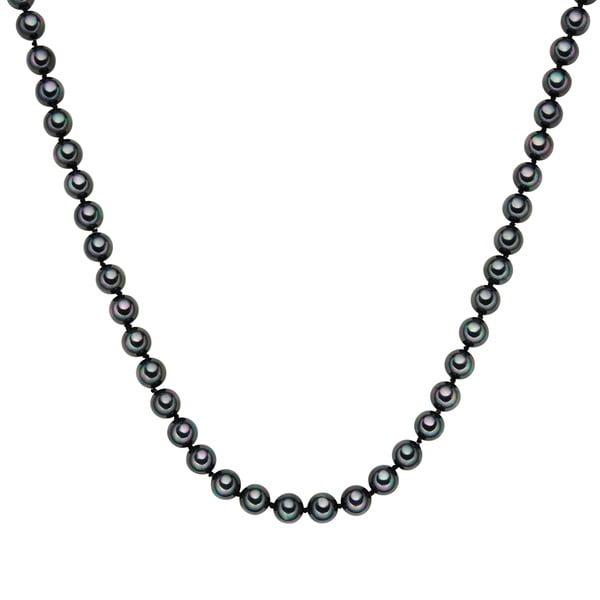 Náhrdelník s antracitovočiernymi perlami Perldesse Muschel,⌀0,8 x dĺžka 120 cm