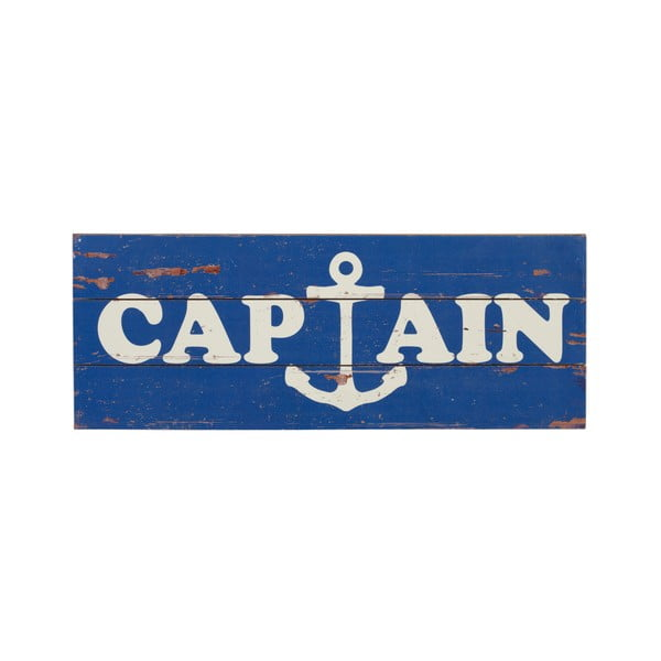 Drevená ceduľa Captain