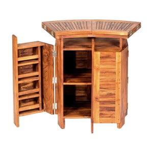 Skladací zahradný barový stolík z teakového dreva Massive Home Real