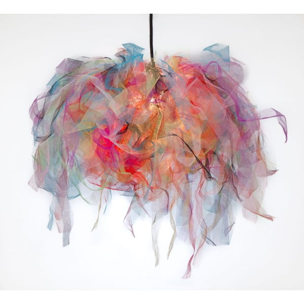 Stropné svetlo Ellen Munter vel. M, farebné s čiernym káblom