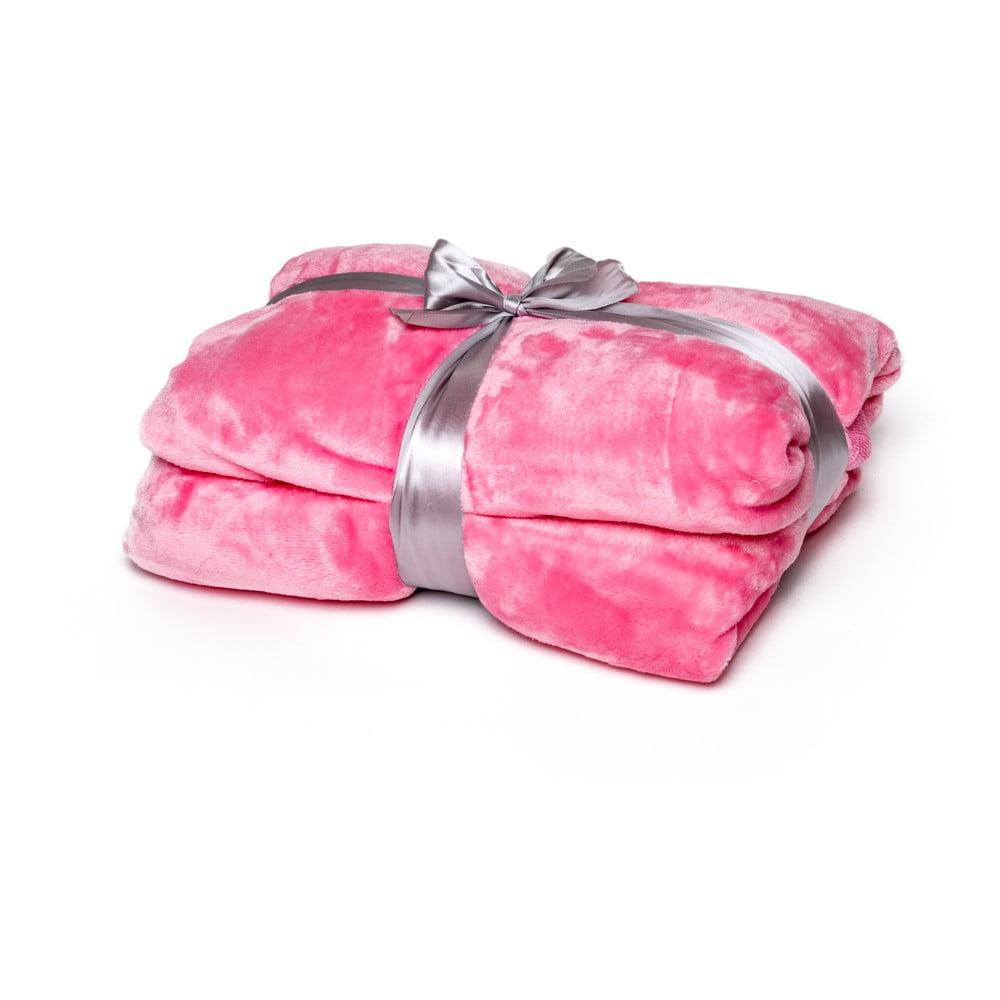 Ružová deka Tarami, 200 × 150 cm