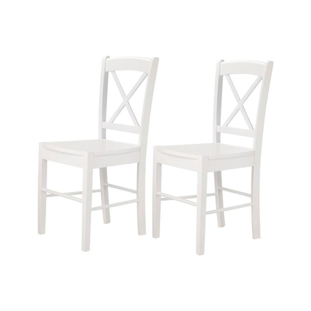 Sada 2 bielych stoličiek Støraa Trento Cross