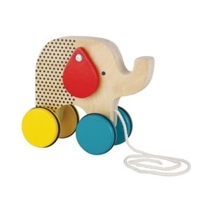 Ťahacia hračka s pohyblivými ušami Petit collage Elephant
