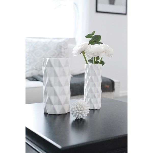Biela váza Hawke&Thorn, výška19cm