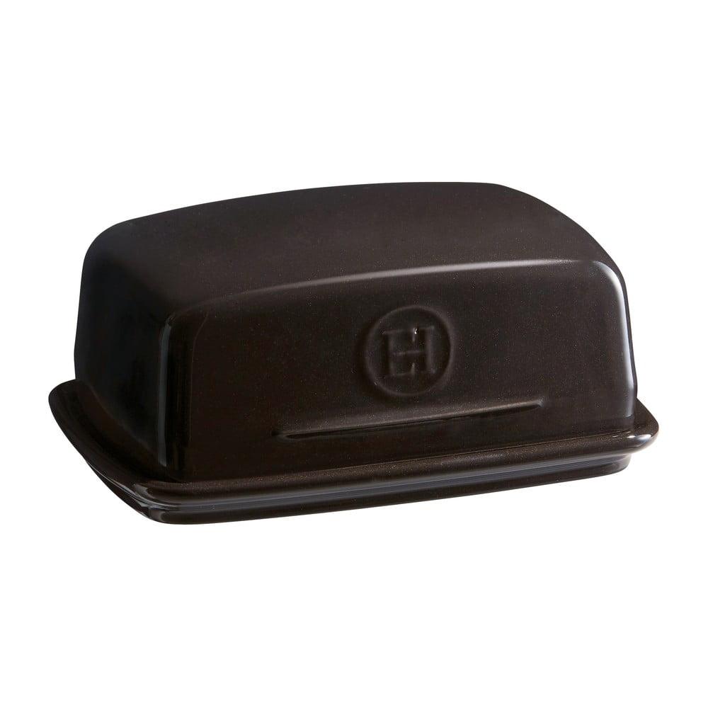 Čierna nádobka na maslo Emile Henry