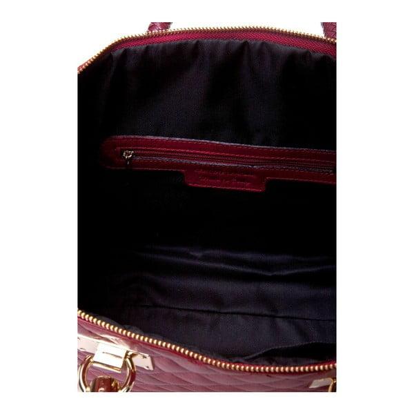 Kožená kabelka Quilted Red