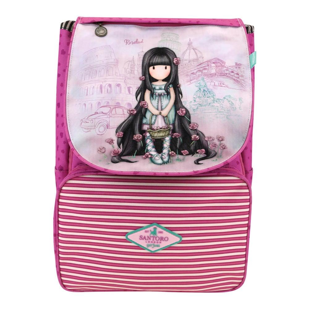 Ružový školský batoh Santoro London Gorjuss Rosebud