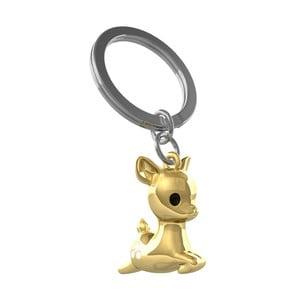 Kľúčenka v zlatej farbe Le Studio Fallowdeer Key Ring