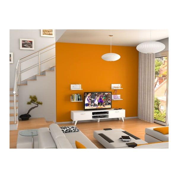 Televízny stolík Kuvars White