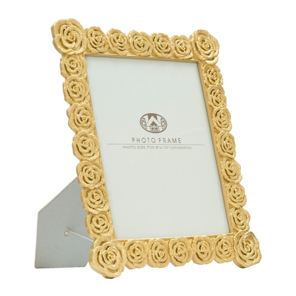 Stolový fotorámik v zlatej farbe Mauro Ferretti Roses, 20 × 25 cm