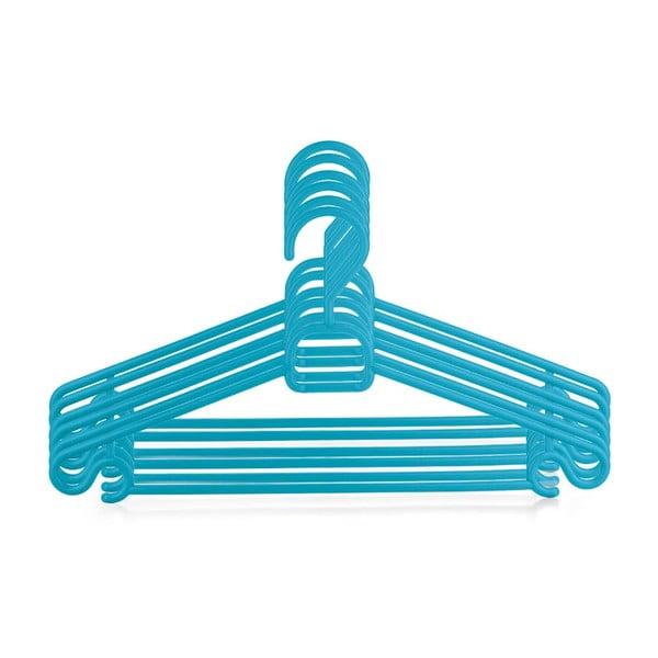 Plastový vešiak Bonita CHIC Blue, 6ks