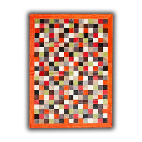 Koberec z pravej kože Multi Normand, 140x200 cm