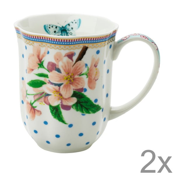 Porcelánový hrnček na kávu Dottie od Lisbeth Dahl, 2 ks