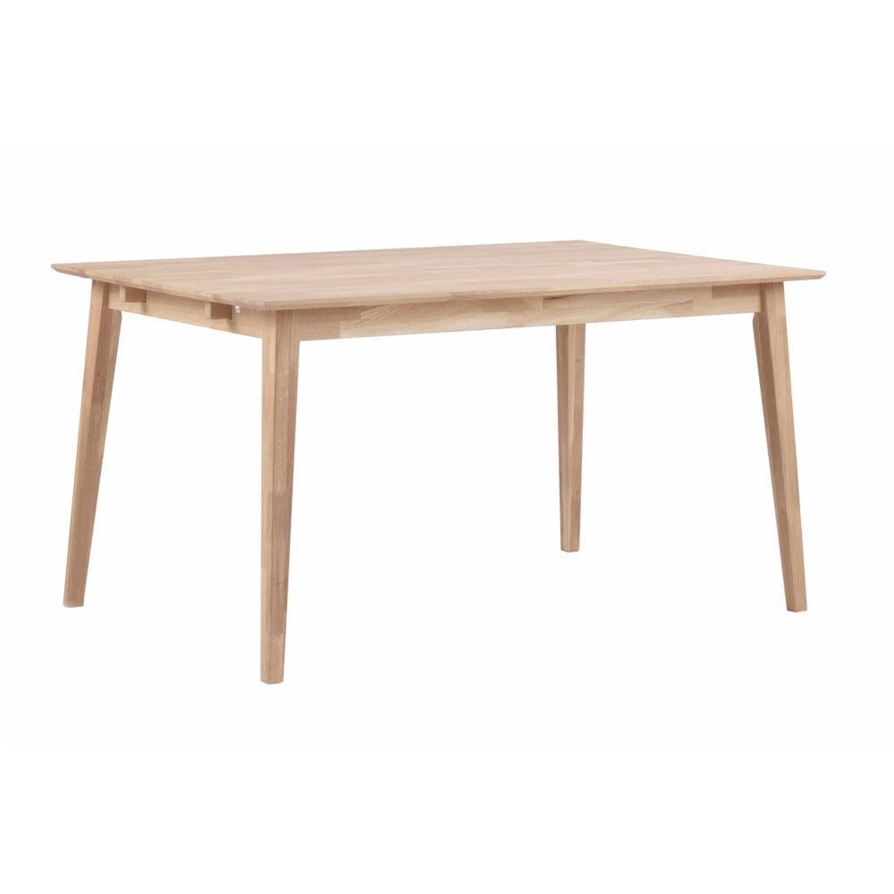 Matne lakovaný dubový jedálenský stôl Rowico Mimi, 140 x 90 cm