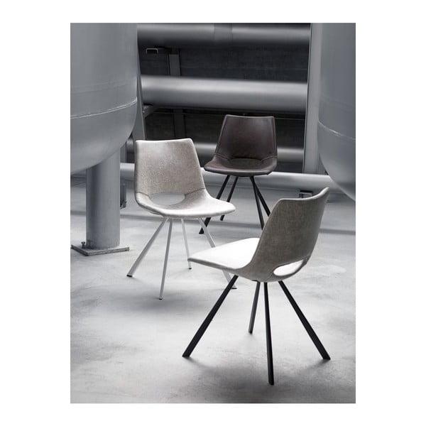 Sada 4 sivých stoličiek Canett Coronas Poly