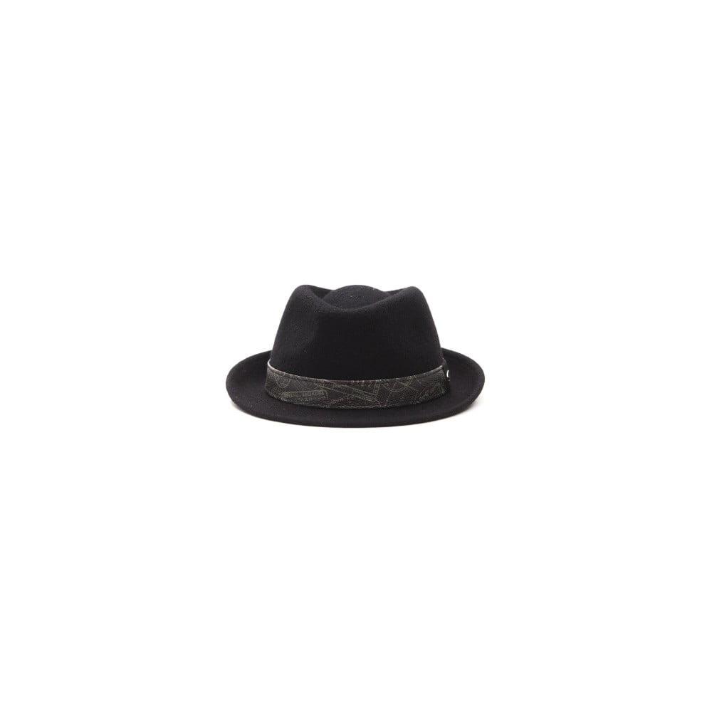8c95bfef0 Čierny kožený pánsky klobúk Alviero Martini Rasto