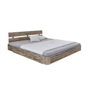 Dvojlôžková posteľ z akáciového dreva Woodking Darryl, 180 x 200 cm