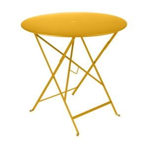Žltý záhradný stolík Fermob Bistro, Ø77 cm