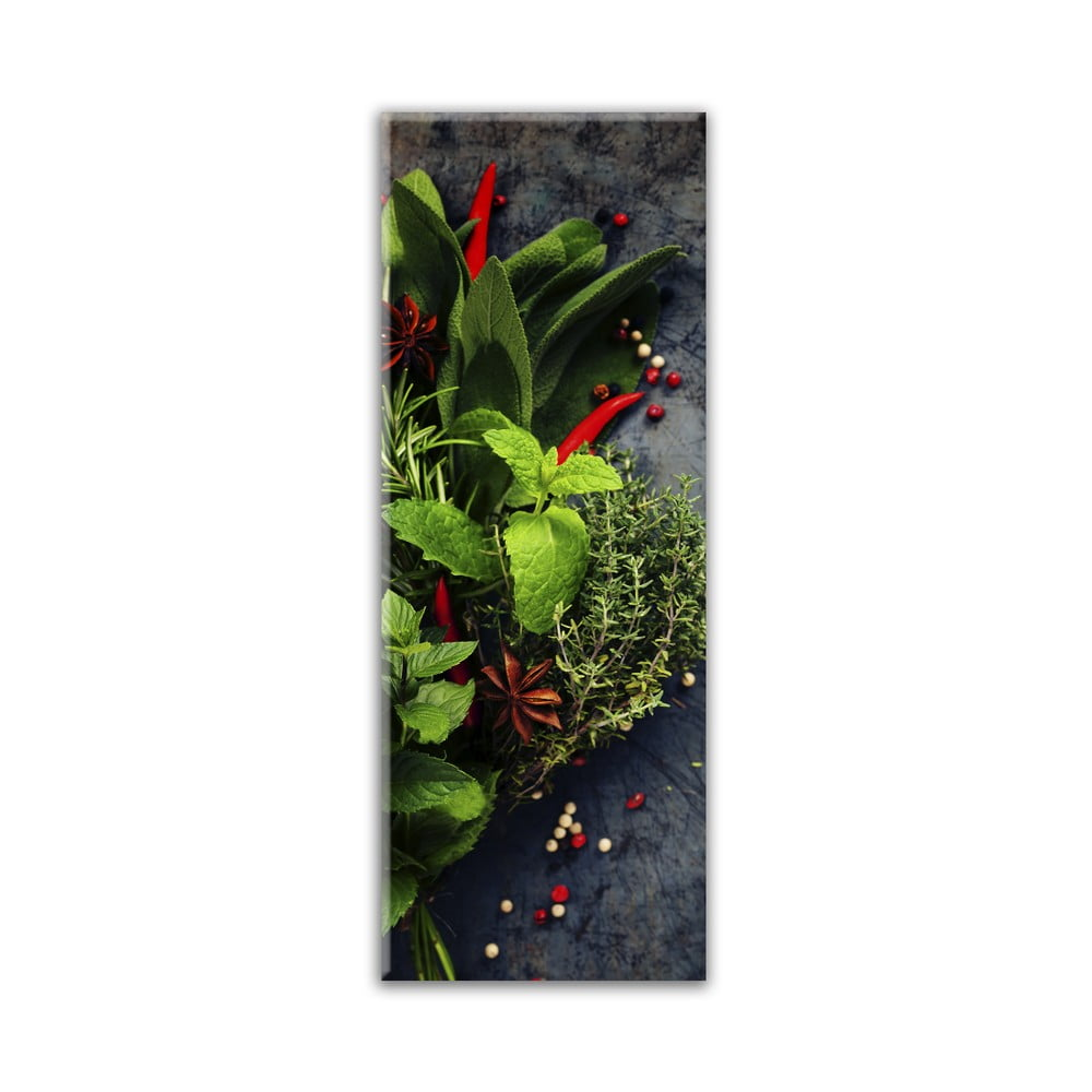 Obraz Styler Glas Kitchen Red Pepper, 30 × 80 cm