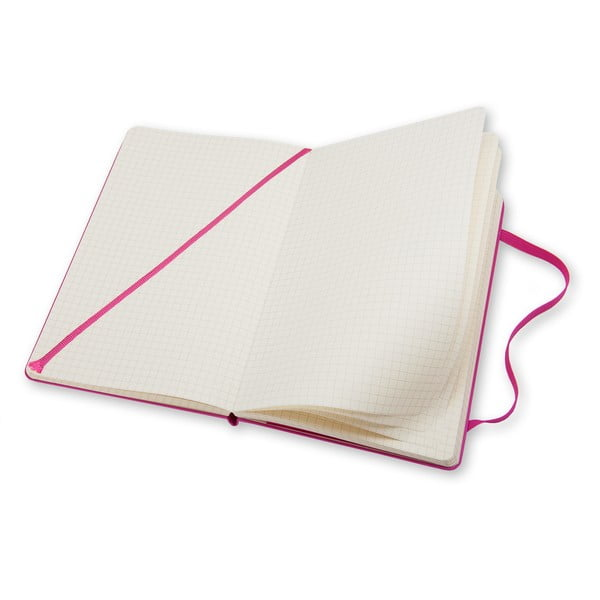 Ružový zápisník Moleskine Magenta Hard, malý, štvorčekovaný