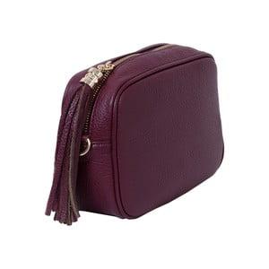 Bordó kabelka z pravej kože Andrea Cardone