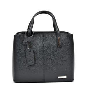 Čierna kožená kabelka Sofia Cardoni Lacy