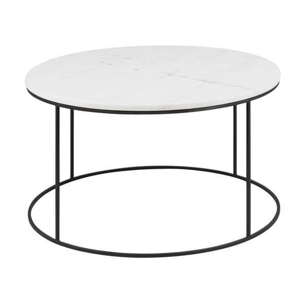 Konferenčný stolík s mramorovou doskou Actona Bolton, Ø80 cm